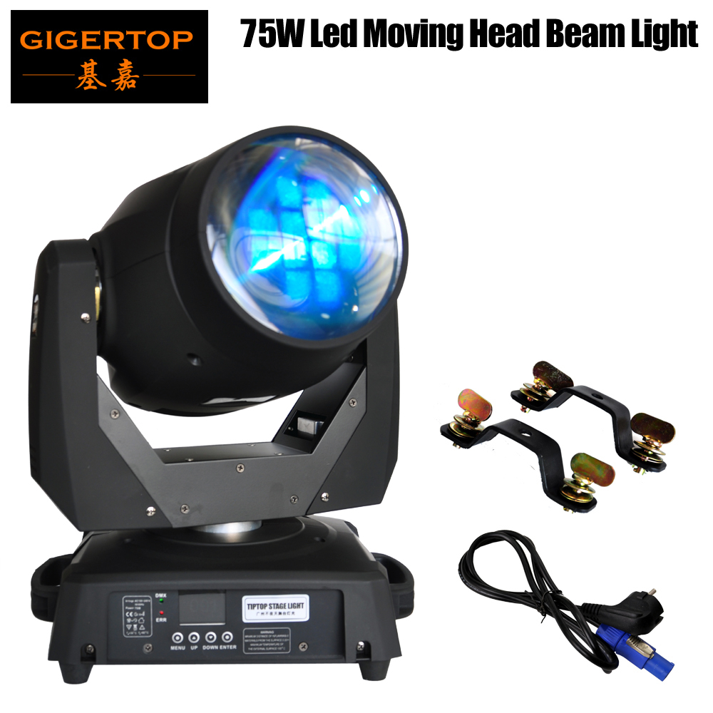 Freeshipping TP-L606A 8 Facet Prism 75W Led Moving Light New Ultra Bright Beam Led Moving Head Light Sharpy Beam Led Stage Light