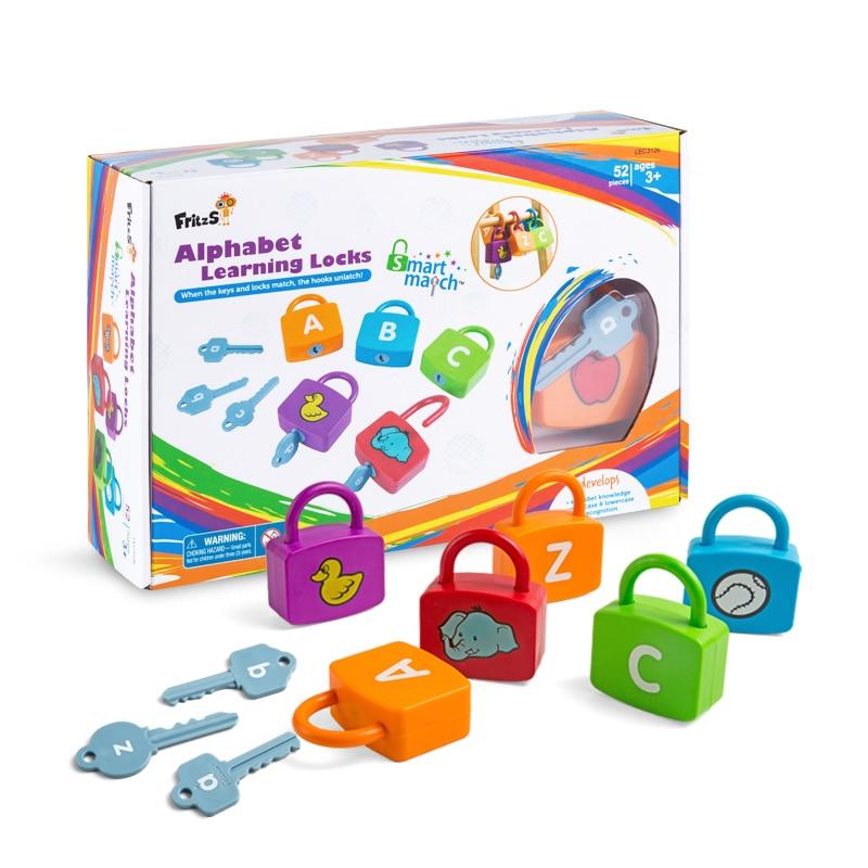 Montessori graphiques sensoriels jumelés à des jouets d'enseignement de l'alphabet anglais maternelle éducation précoce puzzle débloquer des aides pédagogiques