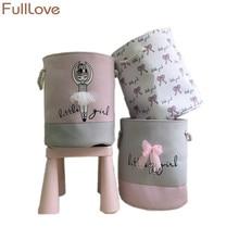 FullLove см 35*40 см Розовый Корзина для белья грязной одежды хлопок балетные костюмы девочек лук печати игрушечные лошадки Организатор
