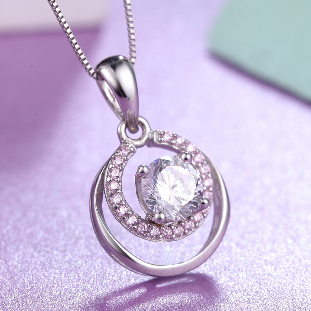 Authentic 925 Sterling Silver Pendant Necklace Dream Fashion Crystal Necklaces Fit Women Party Wedding Necklaces Jewelry