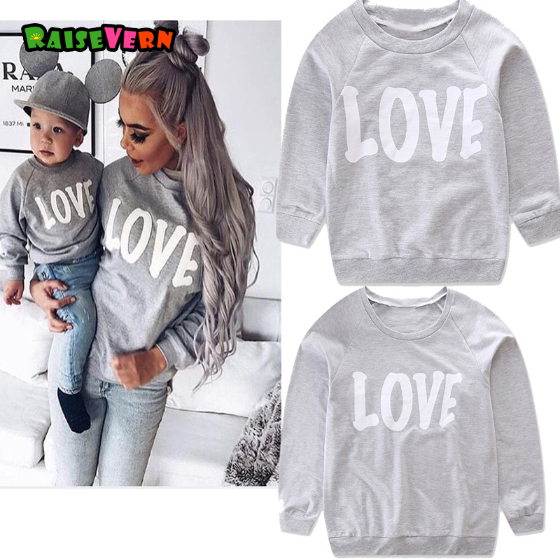 New Family Matching Outfits Long Sleeve T-shirt Kid Father Mother