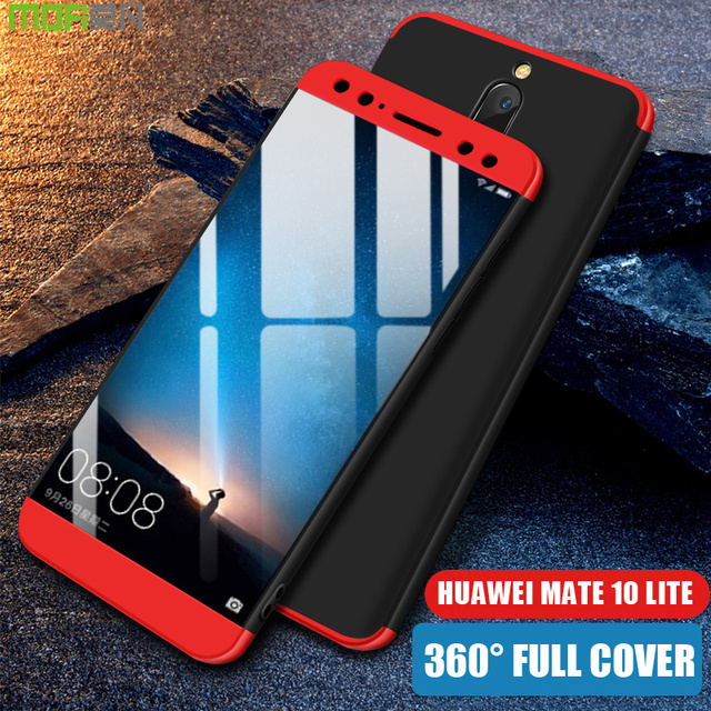 huge discount 6cf80 02876 US $9.99  Huawei mate 10 lite Case Cover MOFI 360 Degree Full Cover Case  for Nova 2i Hard PC Case mate 10 lite Honor 9i luxury 3 in 1 Case-in Fitted  ...