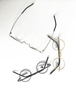 Image 3 - בציר קטן 40mm עגול משקפיים מסגרות מתכת שפה מלאה אופטי יוניסקס משקפיים