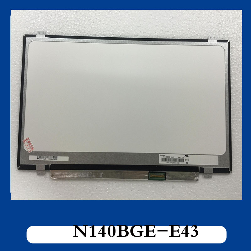 Free shipping 14'' slim led screen 30 pin Compatible LTN140AT31 N140BGE-E33 N140BGE-E43 N140BGE-EB3/EA3/EA2 HB140WX1-301 /401 /5 bremed bd 3220