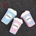 Diversión personalidad de la moda taza de café linda carta diseño hit color de la tela escocesa mini bolso de cadena de bolso de las señoras bolsa de mensajero bolso