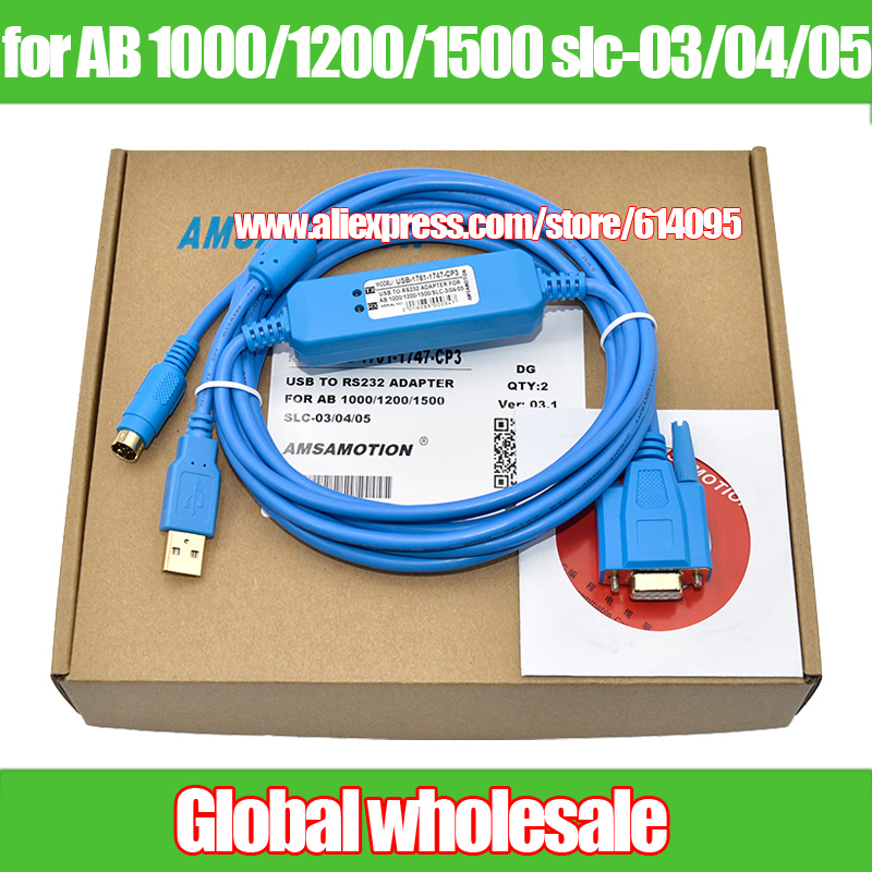 Rockwell AB Series PLC Programming Cable USB-1761-1747-CP3