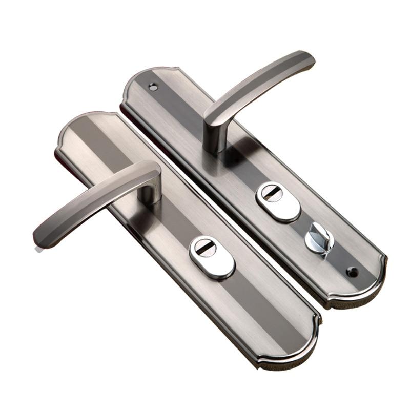 US $14 11 10% OFF|Universal house security lock Indoor Dual Latch Antique  Security door lock for living room toilet bedroom door Accessory-in Door