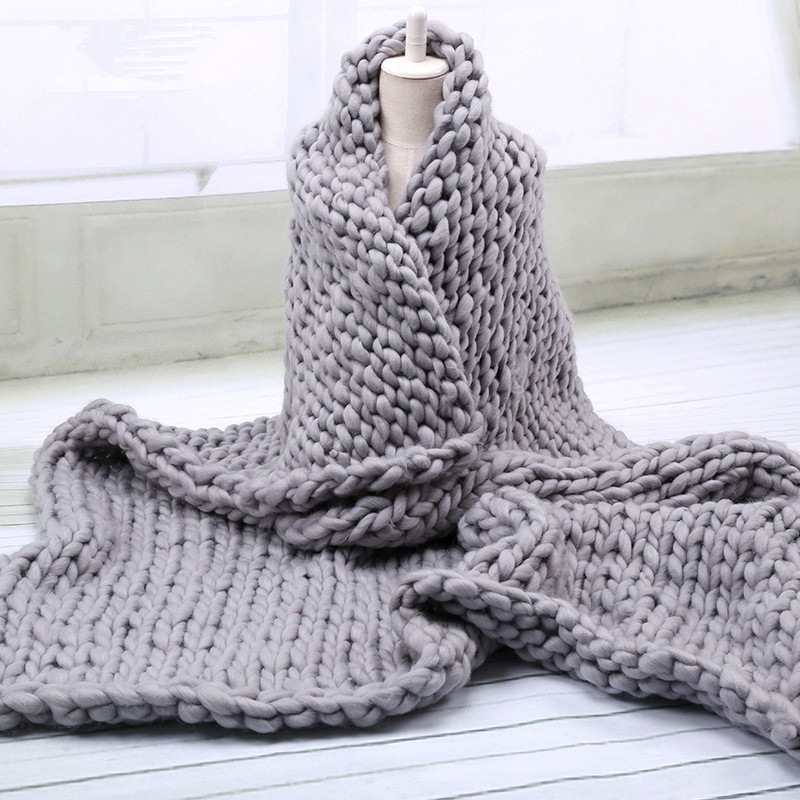 Handmade Chunky Knit Blanket 1