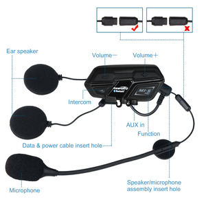 Image 3 - 3pcs Fodsports M1 S pro Motorcycle Headset Helmet 8 Riders 2000m Group Talk 850mAH Moto Bluetooth waterproof helmet intercom