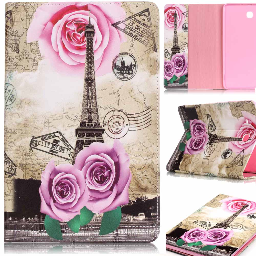 Fashion Painted Flip PU Leather sFor Samsung Galaxy Tab A 9.7 Case For Samsung Galaxy Tab A T550 T551 T555 Smart Case Cover
