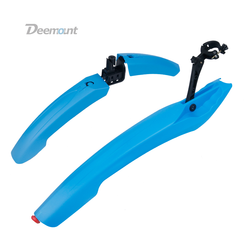 Deemount 1 Pair Bicycle Mudguard With LED Taillight MTB Mountain 24 26 27.5 inch Bike Mud Wings Front/Rear Wheel Fender