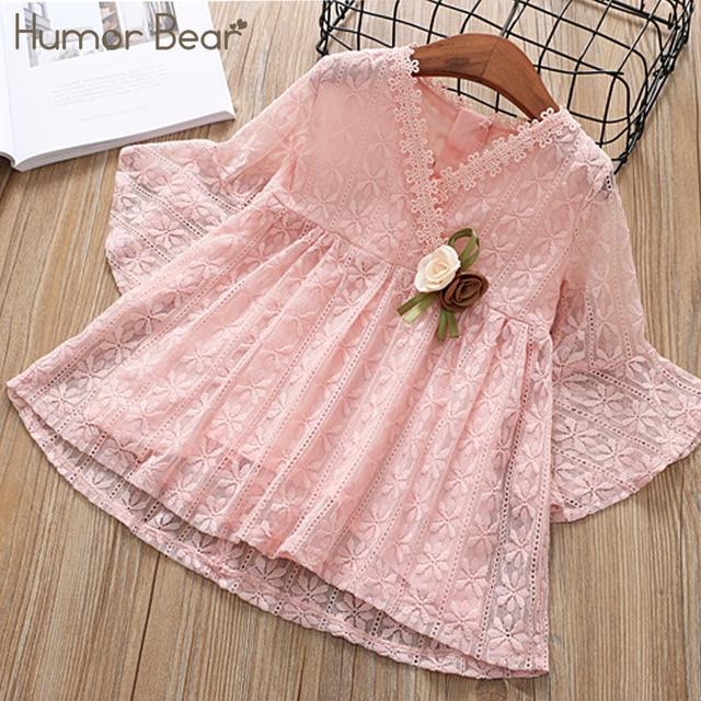 9d276183176 Humor Bear Baby Girls Dresses 2018 New Summer Corsage Design Princess Dress  Children s clothes Party Dress