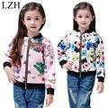 LZH Spring 2017 Girls Jacket Fashion Printed Baseball Jacket For Girls Autumn Outerwear Coat Children's Clothes Kids Sports Coat