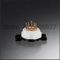 2 uds 7pin alta tomacorriente de tubo de cerámica para 6Z4 6X4 EF95 EZ90 EAA91 EF91 6AQ5 6J1