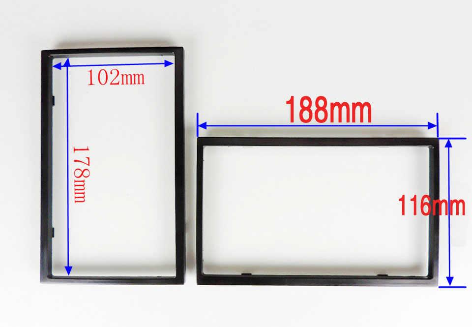 ユニバーサルカーdvdフレーム/2 dinカーdvd (飾り枠)改造/dvdエンクロージャ/枠組み送料無料