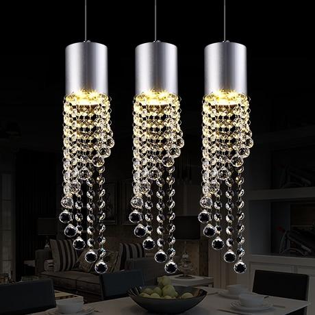 LED Three restaurants light bar bar dining room table 11w - 15w crystal meals chandeliers 110v-240v @-9