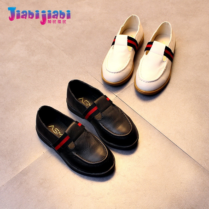2-12T New Children Student stripe Loafers Flats Boy girl Male Soft Bottom Fashion Shoes Toddler Kids Casual Real Leather Shoes 5