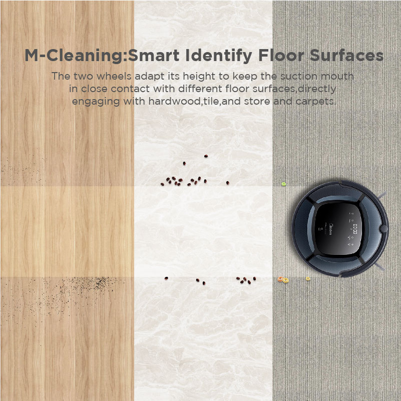 Midea Smart Robot Vacuum Cleaner MR04 2in1 for Vacuum&Mop,Map Navigation,Powerful Suction,UV Lamp wi