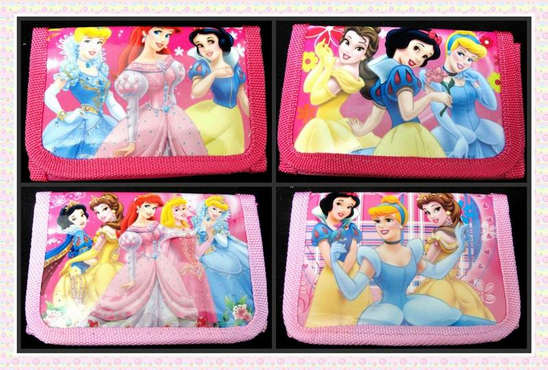 12pcs/lot Cute Coin Purses Three Princess The First Pouch Small Wallet For Baby Girl Money Bag Party Supplies