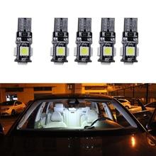 T10 W5W 5SMD 5050 LED Car Interior Exterior Dome Festoon Bulb Light 12V White Car Side Light Car Led Lighting Signal Lamp