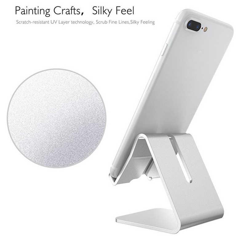 4 cores De Liga De Alumínio Universal Cell Phone Tablet PC Desk Mount Holder Metal Dobrável Suporte Móvel para o iphone samsung J30