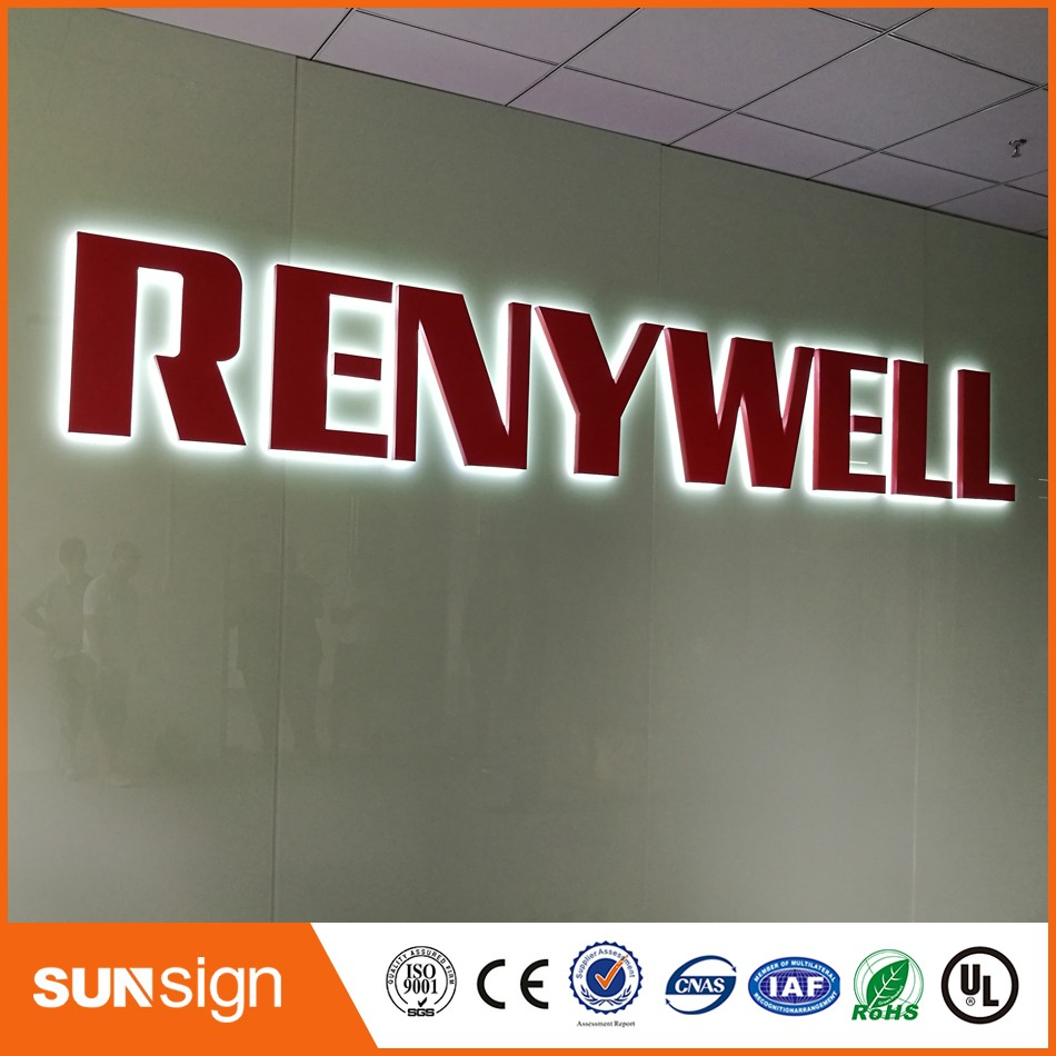 Custom Advertising Signs High Quality Backlit LED Sign Board Lighted Letters