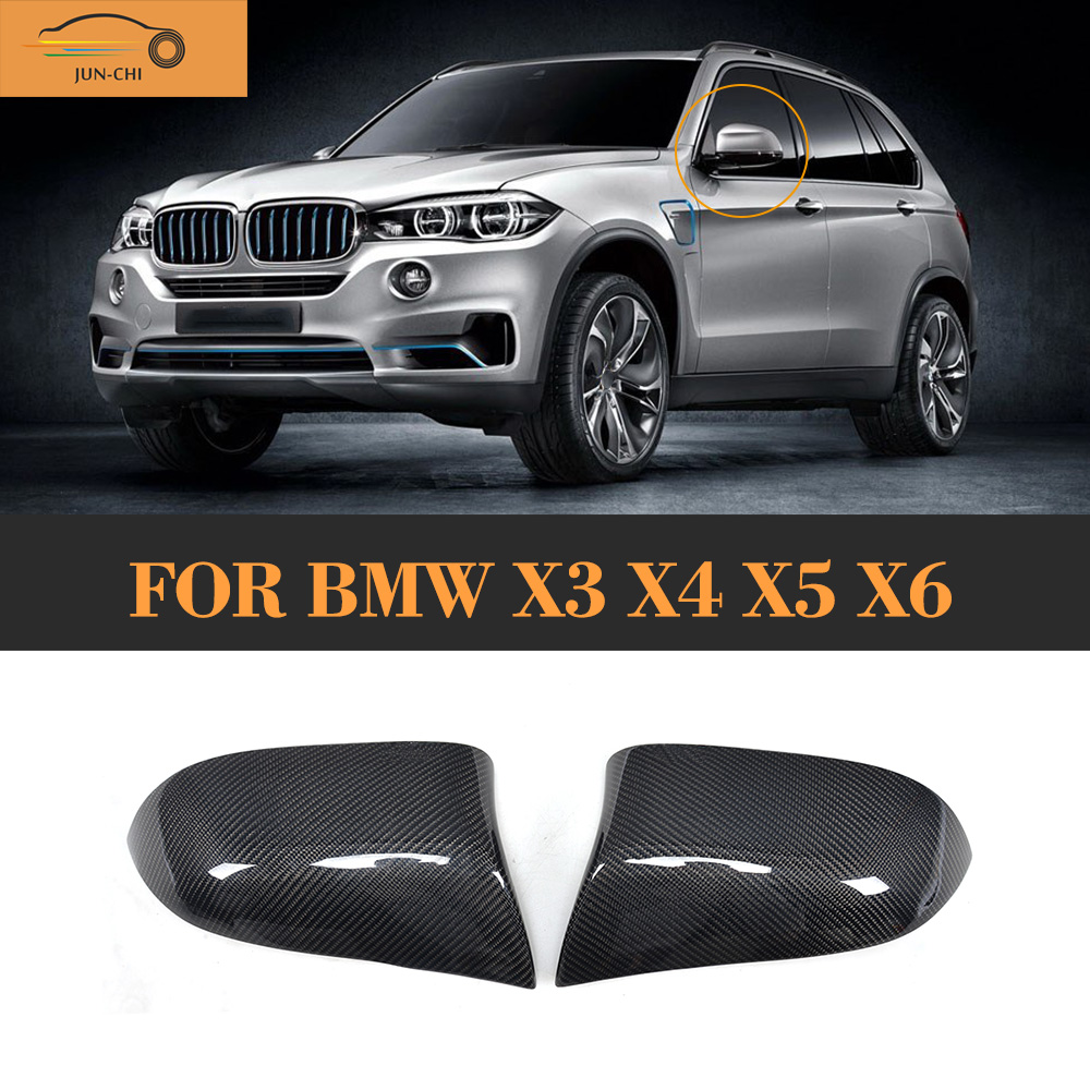 Carbon Fiber auto car side mirror fender for BMW X3 F25 X4 F26 X5 F15 14-16 X6 F16 15-16 Standard Not M airspeed carbon fiber auto car gearshift knob cover sticker for bmw f20 f30 f31 f34 3gt x3 f25 x4 f26 x5 f15 x6 f16 accessories
