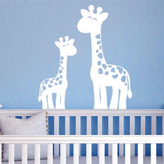 Giraffe Muurstickers Jungle Nursery Decor Jongen Childrens Muursticker Mom Baby