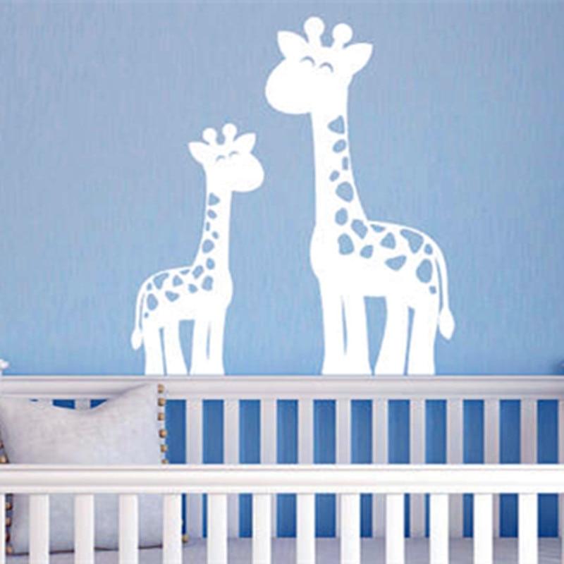giraffe wall decals jungle nursery decor boy nursery childrens