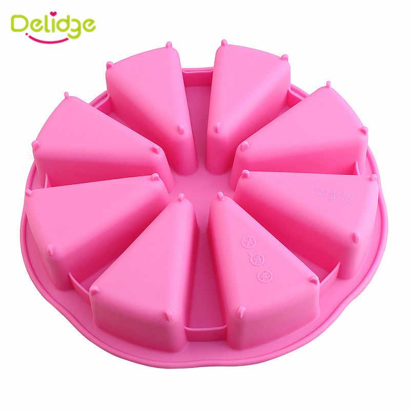Delidge 1 قطعة جولة سيليكون كعكة العفن 3D الشوكولاته الكعك كب كيك قالب الحلوي DIY فندان كعكة تزيين أدوات دروبشيبينغ