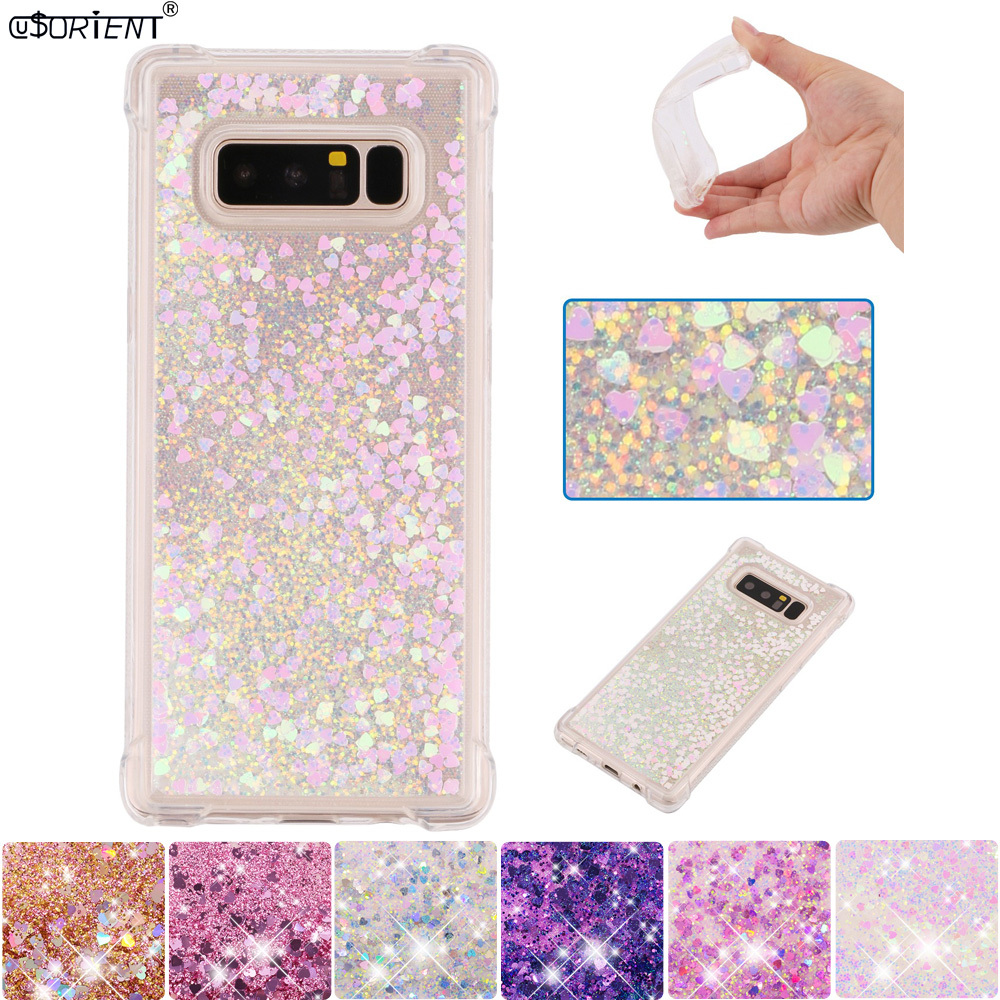 For Samsung Galaxy Note 8 Note8 Glitter Dynamic Liquid Quicksand Phone Case Sm-n950f/ds Sm-n950x Silicone Shockproof Cover Funda Novel In Design;