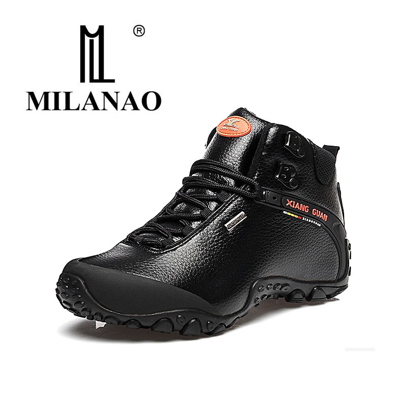 MILANAO 2016 men outdoor shoes high state waterproof leather font b hiking b font sneakers breathable