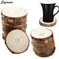 Sqinans натуральный круглый деревянный подстаканник для чая  кофе  кружка  держатель для напитков  Настольный коврик  деревянные подставки для ...