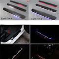 For BMW M6/6/E63 E64/X3 F25/X4 car light LED Moving front door scuff sticker Sill Plate pedal protector styling