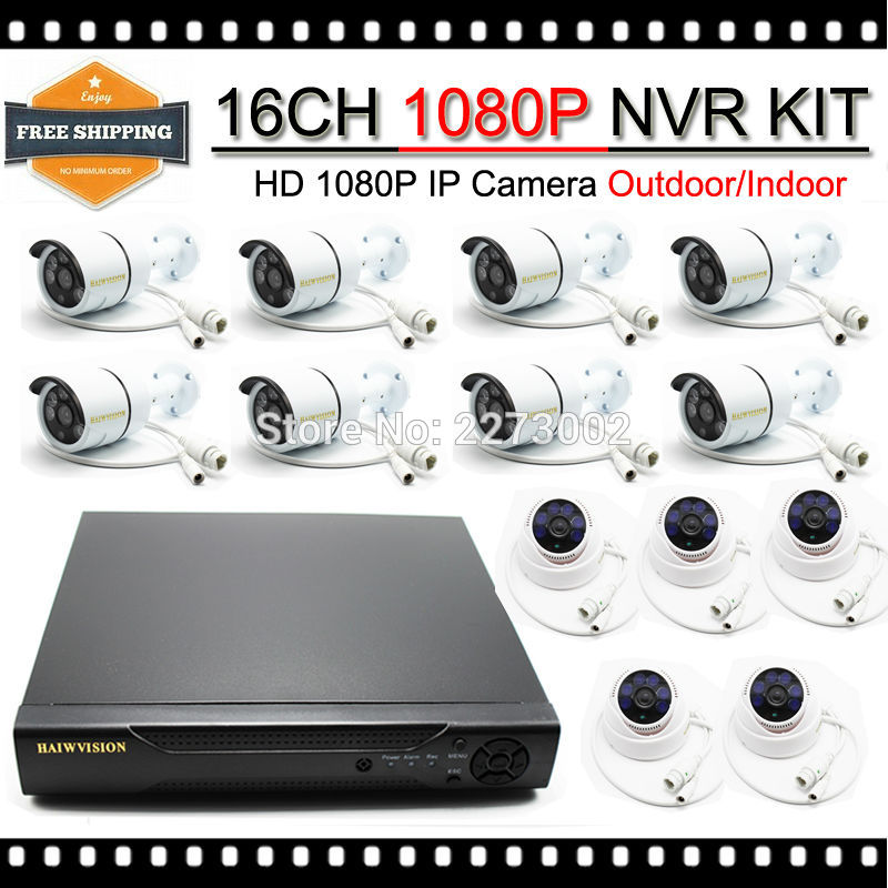 HKES Home Security System 16 channel 1080p nvr with 2mp ip camera system security through log analysis