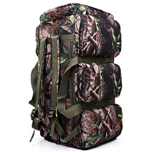Дорожная Сумка 90L большая емкость военно-дорожные сумки оксфорд/холст камуфляж вещевой мешок водонепроницаемая СУМКА