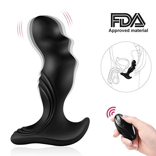 Vibrating Prostate Massager Anal Sex Toy Power Motor Vibrator Men 7 Stimulation Patterns Wireless Remote Control Anal PleasureVibrating Prostate Massager Anal Sex Toy Power Motor Vibrator Men 7 Stimulation Patterns Wireless Remote Control Anal Pleasure