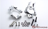 Bearing type front wheel steering cup holder + stainless steel steering column FOR LOSI 5IVE T