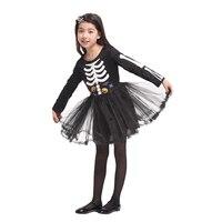 Umorden New Arrival Halloween Costumes for Girl Girls Scary Skull Skeleton Dress Costume Cosplay Fantasia Set