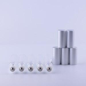 Image 3 - 10 ml (300 ชิ้น/ล็อต) คุณภาพสูงโลหะ Roll   on ขวดน้ำมันหอมระเหยขวดน้ำหอมที่ว่างเปล่า Glass Sample ขวดขายส่ง