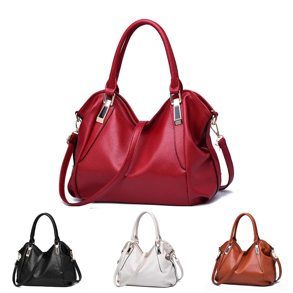FABENSON Designer Women Handbag Female PU Leather Bags Handbags Ladies Portable Shoulder Bag Office Ladies Hobos