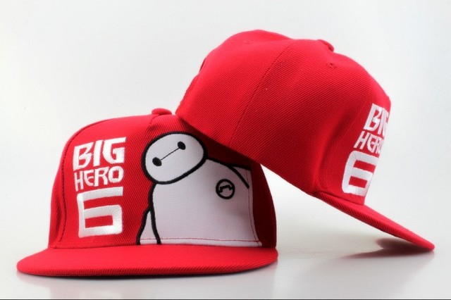7919f26ca0e Cute Kids Baymax Snapback Hat Big Hero 6 Snapbacks Youth Snap Back Cap Red Ball  Caps Outdoor Sports Caps Childrens Hip Hop Hats