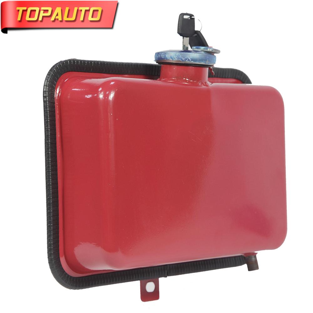 TopAuto 4.5L Car Fuel Tank Cap Cover Key Oil Gasoline Diesel Stainless Steel Storage Petrol Bucket Car Motorcycle Accessories