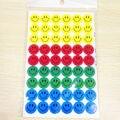 10 Pcs Adorável Bonito E Colorido Crianças Engraçado Sorriso Faces Louvor de pais Professores Crianças Bem Feito Jogos do Ano Novo Adesivos vendas