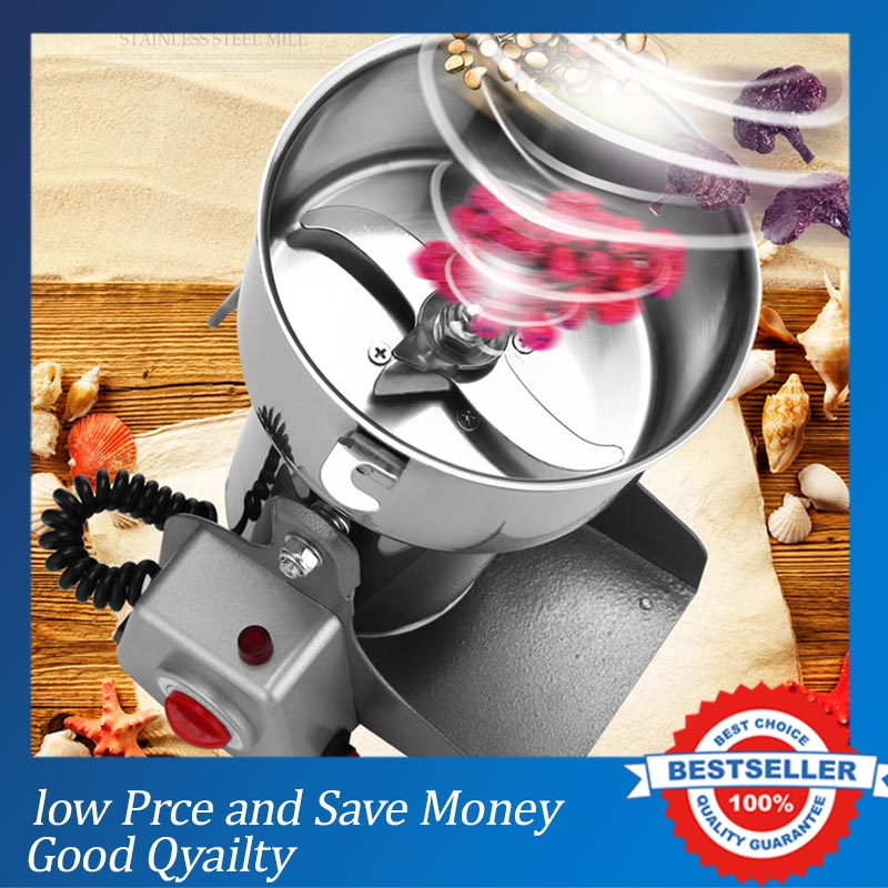 3000W Factory Direct Sale 800g Swing Full Stainless Herb Grinder/ Food Grinding Machine/Coffe Grinder,Electric Flour Mil