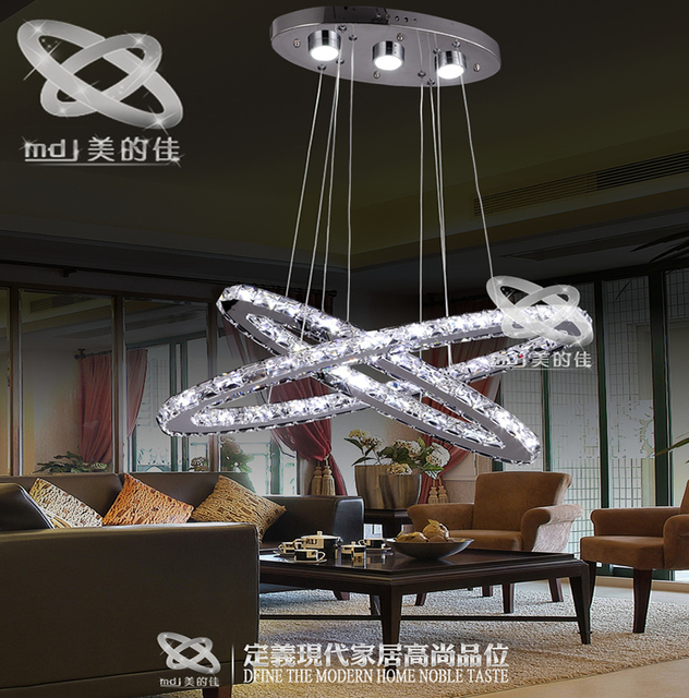 America S Best Living Room Oval Stainless Steel Crystal Lamp LED Lamps Bedroom Modern Dining