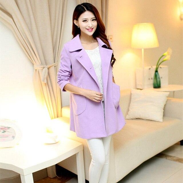Мода большой ярдов беременных женщин осень и зиму одежду новый Корейский моды материнства беременных шерстяной куртки пальто беременных женщин