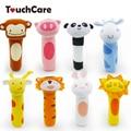 8 modelo nuevo bebé bebé del estilo animal plush toys soft handbells sonajeros mobiles infantil de dibujos animados de peluche de juguete mano títeres