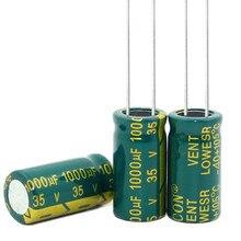 Новый оригинальный высокочастотный Кристалл 1000 мкФ 1000 мкФ 35 v 35 v 1000 мкФ 1000 мкФ 35 v новый оригинальный Размеры: 10*20 мм