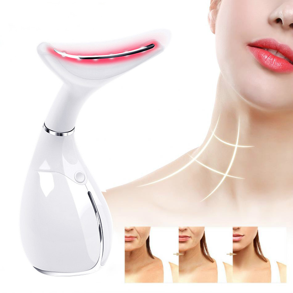 Konmison Rechargeable Neck Instrument Beauty LED Photon Vibration Skin Tighten Anti Wrinkle Remove Neck Lifting Massager DeviceKonmison Rechargeable Neck Instrument Beauty LED Photon Vibration Skin Tighten Anti Wrinkle Remove Neck Lifting Massager Device